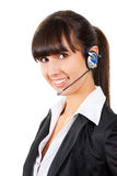 Smiling pretty business woman with headset. Stock Photos