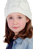 Smiling pretty girl with wool cap Stock Images