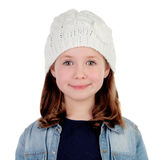 Smiling pretty girl with wool cap Royalty Free Stock Image