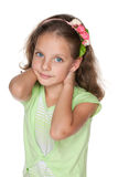 Smiling pretty little girl Royalty Free Stock Photography