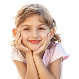 Smiling pretty lovely child girl portrait Royalty Free Stock Image