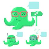 Smiling pretty octopus Royalty Free Stock Photo