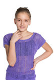 Smiling pretty preteen girl Royalty Free Stock Photos