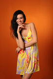 Smiling pretty woman Royalty Free Stock Images