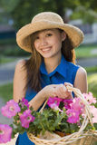 Smiling pretty woman gardener Royalty Free Stock Photography