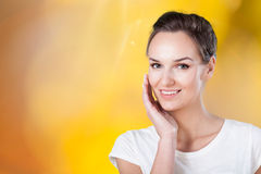 Smiling pretty woman Stock Photography