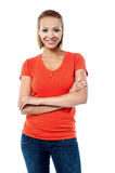 Smiling pretty woman posing casually Royalty Free Stock Photo