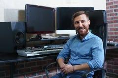 Smiling producer stock photos
