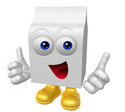 Smiling product packaging mascot Stock Photos