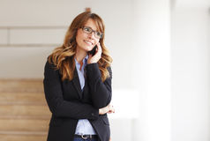Smiling professional businesswoman on the phone Royalty Free Stock Images