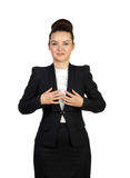 Smiling professional lady posing with arms on the chest Stock Photos