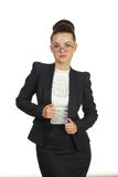 Smiling professional lady posing, isolated Royalty Free Stock Photo