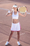 Smiling Professional Tennis Player Royalty Free Stock Images