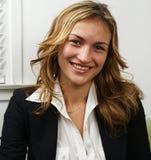 Smiling professional woman stock photos