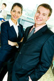 Smiling professionals royalty free stock image