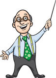 Smiling professor with pointer Royalty Free Stock Photo