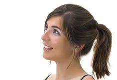 Smiling profile Stock Image