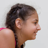 Smiling profile. Profile of a happy girl Stock Images
