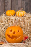 Smiling Pumpkin Royalty Free Stock Photography