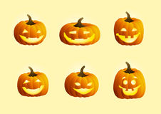 Smiling pumpkins Royalty Free Stock Photos