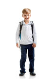 Smiling Pupil With Bag Stock Photo
