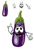 Smiling purple eggplant vegetable Stock Photo