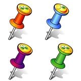 Smiling pushpins Stock Images