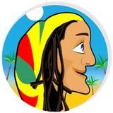 Smiling rastafarian looking forward Royalty Free Stock Image