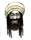 Smiling rastaman. Ink and watercolor sketch of a smiling rastaman Royalty Free Stock Photography
