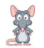 Smiling rat. Vector clipart picture of a smiling rat Stock Images