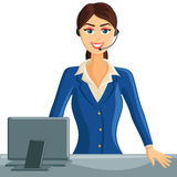 Smiling Receptionist Girl Stock Photos