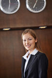 Smiling receptionist at hotel Stock Photos
