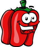 Smiling Red bell pepper Stock Photos