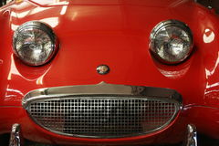 Smiling red car Royalty Free Stock Photos