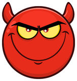Smiling Red Cartoon Smiley Face Character With Evil Expressions Royalty Free Stock Photos