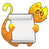 Smiling Red Cat with a frame Royalty Free Stock Photography