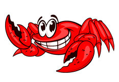 Smiling red crab Stock Photos