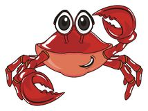 Happy red crab Royalty Free Stock Photo
