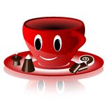 Smiling red cup Stock Photos