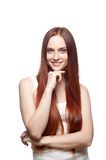 Smiling red haired girl Royalty Free Stock Images