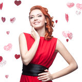 Smiling red-haired girl Royalty Free Stock Photo