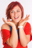 Smiling Red haired woman Royalty Free Stock Photography