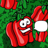 Smiling Red pepper with speech bubble Royalty Free Stock Image