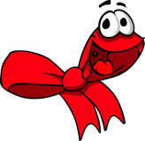 Smiling Red ribbon Royalty Free Stock Photo