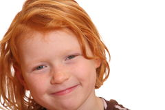 Smiling Redhead Royalty Free Stock Images