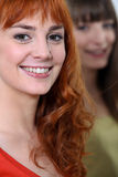 Smiling redhead Stock Images