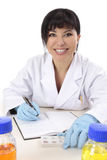 Smiling research scientist Stock Image