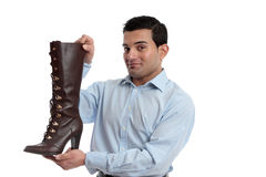 Smiling retail salesman Stock Images