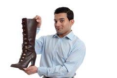 Smiling retail salesman Stock Images