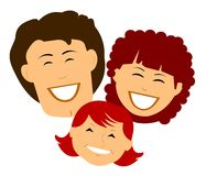 Smiling retro family Royalty Free Stock Image